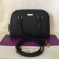 """ONLY 1 Left⚜Kate Spade⚜Newbury Lane Felix Small ✨Brand New With Tag and Bag•Guarantee Authentic✨also available in color WHITe•pls check out my closet if interested :)   ONLY $165 on Viinted or Mercarii  Size: small Leather with 14-karat gold hard ware 8.5x11.5x5 Double handle with 4"""" drop, comes with adjustable strap that can be worn on shoulder or cross-body Zip top closure with double pulls, flat bottom with protective feet Interior zip, cell phone and multifunction pockets kate spade Bags…"""