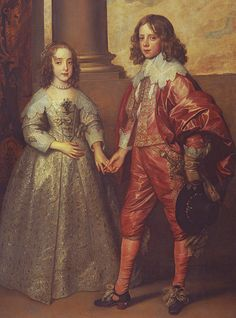 Mary Stuart & William of Orange, 1641 The daughter of Charles I, Mary, and her fifteen year old bridegroom, William of Orange.
