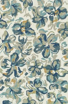 Indoor/ Outdoor Island Cove Ivory/ Floral Rug - x (Ivory/Floral - x Blue, Alexander Home Floral Area Rugs, Floral Rug, Outdoor Island, Blue Hibiscus, Hibiscus Flowers, Indoor Outdoor Area Rugs, Outdoor Living, Rug Sale, Cool Rugs