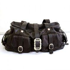 Black Leather Bag - $64