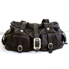 Black Leather Bag - $64