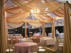 Possible draping for an outdoor tent in color...  Found on Weddingbee.com Share your inspiration today!