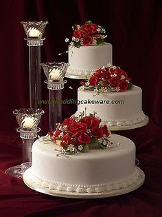 3 TIER CASCADING WEDDING CAKE STAND STANDS / 3 TIER CANDLE STAND