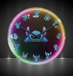 Stitch clock Disney home decor Disney Stitch, Lilo Y Stitch, Cute Stitch, Stitch Doll, Disney Home, Disney Cars, Baby Disney, Disney Nursery, Disney Disney