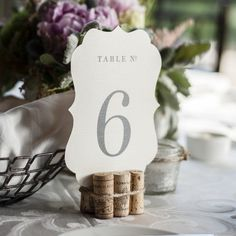 Printable Table Numbers on The Knot – Swell & Grand