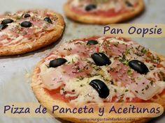 Para comerte una pizza entera sin temer a si tiene demasiados hidratos de carbono o mucha fibra. Receta fácil y sencilla