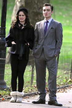 Leighton Meester Ed Westwick Photos: Leighton Meester And Ed Westwick Film 'Gossip Girl' In NYC Central Park