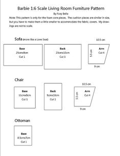 (7 of 7) Barbie Living Room Furniture Tutorial | Flickr - Photo Sharing!