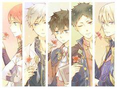 Akagami no Shirayuki-hime - Snow White with the Red Hair - Shirayuki, Zen, Ryuu, Obi, and Izana