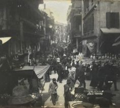 Hong Kong market Chinese New year 1914 ( photographer unknown) Hong Kong, Street View, China, Concert, Painting, Art, Art Background, Painting Art, Kunst