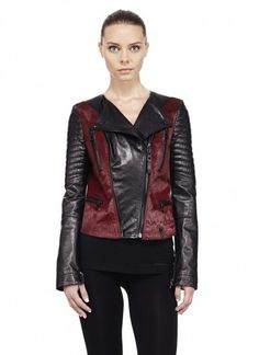 Discover women's leather jackets & lightweight coats to stay stylish between seasons. Shop leather biker and moto jackets and lightweight down coats. Cool Jackets, Jackets For Women, Stylish Coat, Trendy Collection, Winter Dresses, Leather Jacket, Bordeaux, Classy Style, Clothes