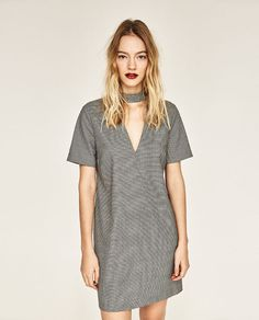 Image 2 of DRESS WITH CHOKER NECK from Zara