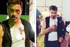 "Robert Downey Jr. -- ""Iron Man 3"" behind the scenes."