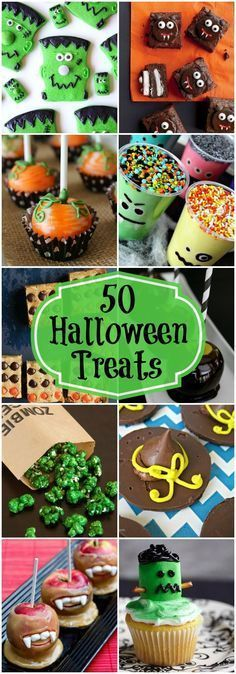 50+ Halloween Treats - A collection of spooky treats perfect for Halloween!! {…