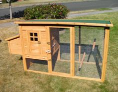 Coop for 2 to 3 chickens  Dimensions   Exterior dimensions: 76″ wide (w/ nest box) x 26″ deep x 41″ tall  Run dimensions: 62″ wide x 26″ deep