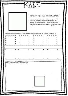 Kare Kare, Pre School, Preschool Activities, Diagram, Shapes, Words, Activities, Note Cards, School
