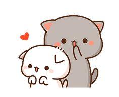 Cute Anime Cat, Cute Bunny Cartoon, Cute Cartoon Pictures, Cute Love Pictures, Cute Love Cartoons, Cute Cat Gif, Cute Cats, Cute Bear Drawings, Cute Cartoon Drawings