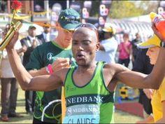 Claude Moshiywa wins the Comrades Marathon 2013 Video Kwazulu Natal, Marathons, Hibiscus, Athletes, Followers, Coast, Baseball Cards, Running, Sports