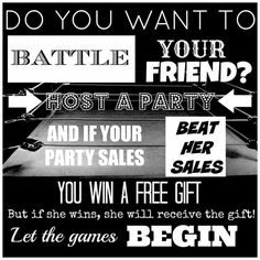 "Looking for two people who want to participate in a ""Battle of the Hostesses"" party! If that's you, contact me on my website at www.jamsbykris.jamberrynails.net, or on Facebook at www.facebook.com/jamsbykris!"