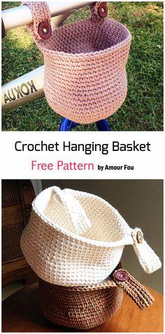 Crochet Home, Crochet Gifts, Crochet Yarn, Crochet Stitches, Free Crochet, Crochet Basket Pattern, Crochet Patterns Amigurumi, Knitting Patterns, Easy Crochet Patterns