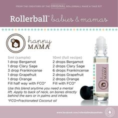 Essential oils roll-on recipe for happy mama. For more info on Young Living Essential Oils, visit: www.TheSavvyOiler.com