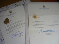 Your state senators will send you a free personalized congratulation letter for wedding anniversaries 50 years and over.  Go to their websites under Services/Special Requests