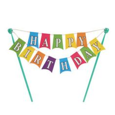 Scoop-N-Save - Happy Birthday Banner Cake Toppers  ( 1 pc ), $5.95 (http://scoop-n-save.com/happy-birthday-banner-cake-toppers-1-pc/)
