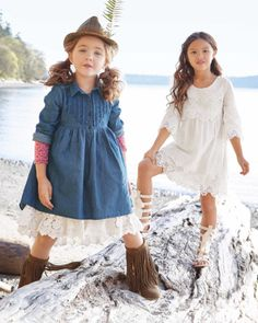 Girls Eyelet Afternoon Dress - exclusively ours - One of the prettiest dresses we've ever offered, both you and your daughter will love it. Machine Wash.