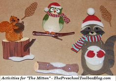 "#Winter Activities for ""The Mitten"" by Jan Brett #preschool #kindergarten"