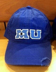 Monsters University MU Baseball Cap Hat Adult Disney World Theme Parks NEW