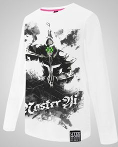League of Legends long sleeve white t shirts for men Master Yi-