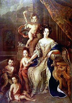 Madame de Montespan and her children by Louis XIV, 1677 by Charles de La Fosse (1636-1716)