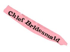 Cheif Bridesmaid sash perfect for the one who did all the hard work to stand out from the hens. Just one of many hen night accessories available from funkyhen. http://www.funkyhen.com/hen-party-sashes/chief-bridesmaid-sash/