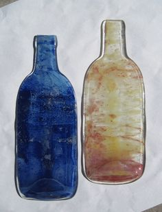 Tie Dye Fused Bottles - Tutorial on how to make tie dye style fused glass bottles.