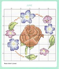 June Cross Stitch Chart