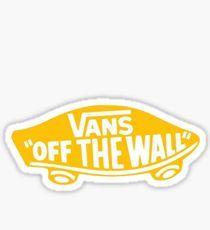 Sticker Ideas, Vans Off The Wall, Aesthetic Stickers, Printable Stickers, Lock Screen Wallpaper, Water Bottles, Vsco, Illustrations, Yellow