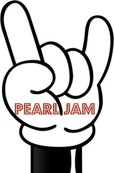 f167a4ac5f Mickey Mouse hand giving the Devil-Horned salute for Pearl Jam.  music