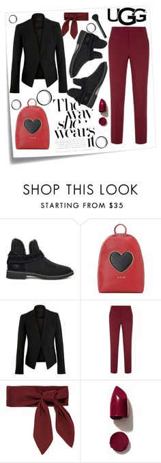 """The New Classics With UGG: Contest Entry"" by jelena-topic5 on Polyvore featuring moda, Post-It, UGG, Love Moschino, Theory, RED Valentino, Chloé, NARS Cosmetics i ugg"