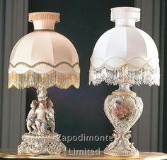 capodimonte+lamps   Italian Capodimonte Porcelain, Unparalleled Beauty