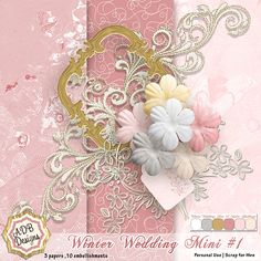 ADBDesigns_WinterWedding_Mini for the January Color Challenge. Please come join us and create a layout or maybe your own mini!