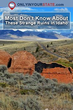 Most People Don't Know About These Strange Ruins Hiding In Idaho Cool Places To Visit, Places To Travel, Travel Destinations, Places To Go, Road Trip Adventure, Us Road Trip, My Own Private Idaho, Utah Hikes, Colorado Hiking