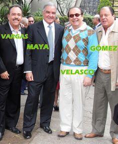 GIMNASIO MODERNO. 2009. CUARENTA AÑOS DE EGRESADOS. LOS CUATRO DE LA FOTO FUIMOS ALUMNOS INTERNOS POR VARIOS AÑOS. — DE IZQUIERDA A DERECHA — ÁLVARO VARGAS SUAREZ, EDGARDO MAYA VILLAZÓN, FRANCISCO JAVIER VELASCO VÉLEZ Y LUIS FERNANDO GÓMEZ GONZÁLEZ.