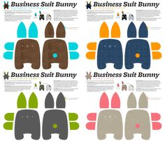 Business Suit Bunny fabric by monmeehan on Spoonflower - custom fabric. THIS WEBSITE IS AWESOME! Super cute fabric and you can DESIGN YOUR OWN FABRIC!!