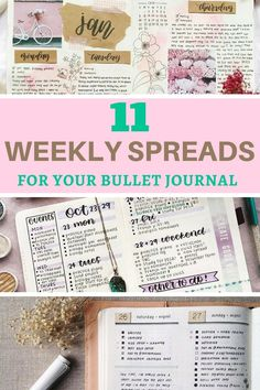 Looking for a unique weekly spread? These bullet journalists have the most creative spreads! They're really great for getting a head start on the week ahead.