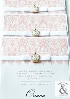 Invitación elegante corona 2