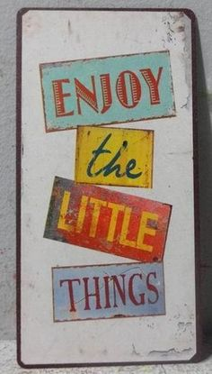 Magnet - Enjoy the little things Little Things, Decor, Hipster Stuff, Decoration, Decorating, Deco