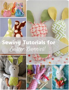 Add one of these pretty softies to your Easter baskets or Easter decor using one of these easter bunny sewing tutorials