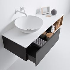 Cute Falper Quattro Zero lacquered vanity unit oh my everything I ever wished for in a vanity