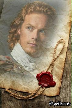 Well done antique style portrait of Jamie Fraser