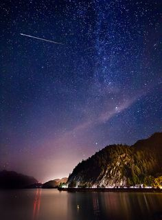 Perseid Meteor Shower ~ Last Night Credit : Alexis Birkill This photo was taken 18 hours ago in British Columbia, CA, using a Canon EOS Constellations, Sea To Sky Highway, Perseid Meteor Shower, Foto Real, Dark Skies, To Infinity And Beyond, Shooting Stars, Milky Way, Night Skies